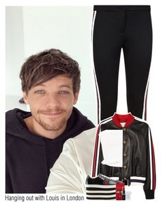 """""""Hanging out with Louis in London"""" by sixsensestyles ❤ liked on Polyvore featuring Gucci, MAC Cosmetics and Smashbox"""
