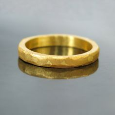 Hammered gold wedding band, Modern gold ring, Modern wedding band, Unique wedding ring, Men's gold ring, Simple gold band, Mens wedding band
