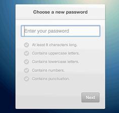 Settings passwords