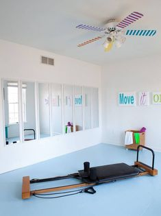 small home gym ideas mirror