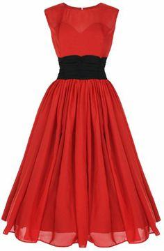 Amazon.com: Lindy Bop 'Serena' Elegant Vintage 1950's Chiffon Prom Dress, Ball Gown: Clothing
