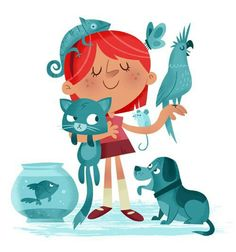 Animals and Girl in this 👧 Kids Me