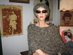 mantellina in lana e fascia