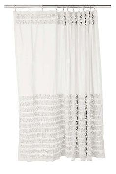 Home Threshold For Target Shower Curtain Bottom Stripe White And Black