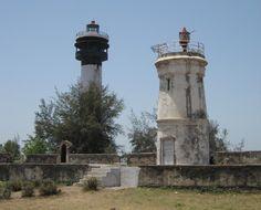 Lighthouses of India: Southern Gujarat, Daman and Diu, New and old Daman Light