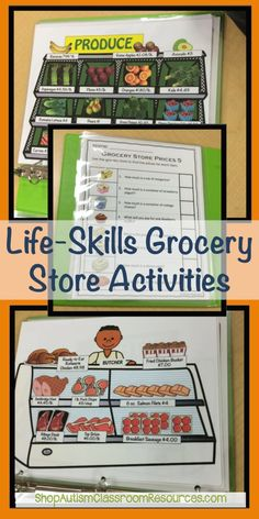 Life-Skills Grocery Store Activities are designed for special education and life skills classroom. Students learn functional literacy & math skills. Skills include differentiated materials from money counting and next dollar up skills to calculating discounts, coupon use, check writing and more real-world skills.