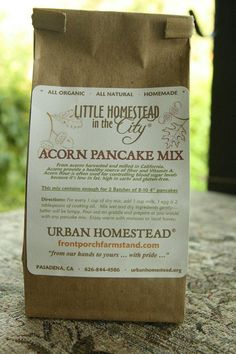 Acorn Flour Pancake Mix by UrbanHomestead on Etsy, $6.00