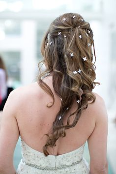 Models lovely hair at Savannah's Behind the Veil event. Photo credit: Katie McGee, Hair: B Street Salon