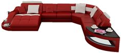 RJ Large Leather Sectional - I don't know if this is quite my style, but it is bold as hell!