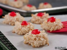 Rudolph's Red Nose Macaroons | mrfood.com