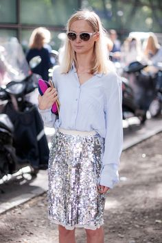 casual chic sequins..