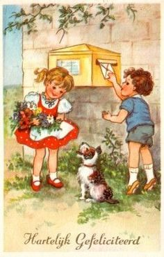 Kinderkaart uit de jaren 1950/1960