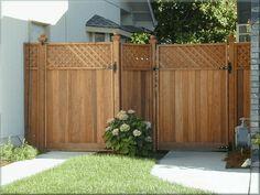 Redwood Fence Panel Gate