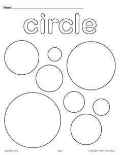 12 free shapes coloring pages - Circle Coloring Pages Toddlers