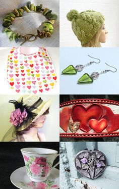 Love in Purple, Pink and Green by Marcia on Etsy--Pinned with TreasuryPin.com
