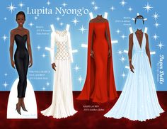 Lupita Nyong'o by Cory Jensen.  See his Facebook page for more: https://www.facebook.com/PaperDollsByCory