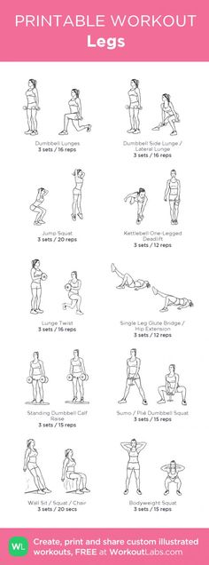 Legs · Free workout by WorkoutLabs Fit