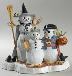 How cute are these!? Lenox snowmen dressed in costumes for Halloween!