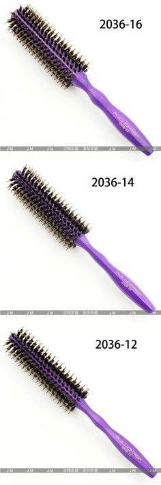 Purple chameleon solid wood handle comb anti-static high temperature professional stylist dedicated modeling hair comb