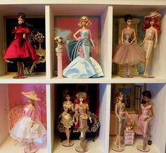 Display case close ups 2 Barbie Room, Barbie Dolls, Doll Display, Display Case, Vintage Barbie Clothes, Doll Clothes, Case Closed, Barbie Collection, Expo