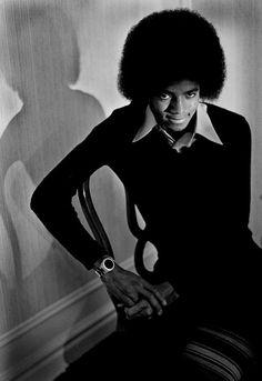 Michael Jackson afro noir