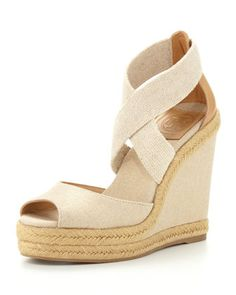 ce3f3dcee81 Tory Burch Kate Linen Espadrille Wedge