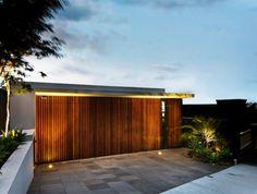 Modern-wooden-gate-with-light