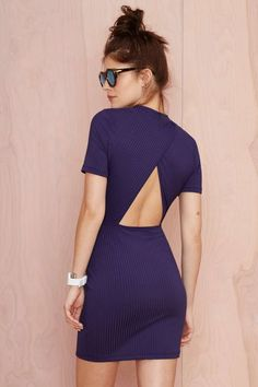 Love this Nasty Gal Whatcha Gonna Do Ribbed Dress. So cute!
