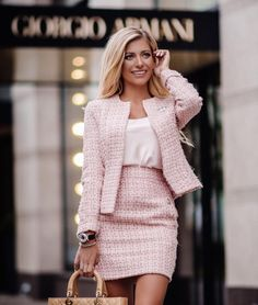 Pink mini skirt and blazer Source by hteudt girly outfits Glamouröse Outfits, Preppy Outfits, Girly Outfits, Classy Outfits, Fall Outfits, Fashion Outfits, Preppy Dresses, Classy Casual, Fashion Fashion