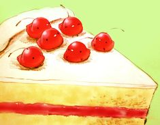 「さくらんぼショートケーキ」/「チャイ」のイラスト [pixiv]