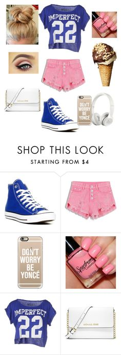 """Untitled #87"" by kking197 ❤ liked on Polyvore featuring Converse, Beats by Dr. Dre, Casetify, !M?ERFECT, MICHAEL Michael Kors, women's clothing, women, female, woman and misses"