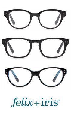 9765de977979 3 Basic Black Glasses for Narrow Faces