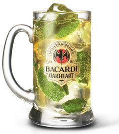 BACARDÍ OAKHEART Spiced Mojito And a bunch of other cocktail recipes featuring Bacardi Oakheart.  Yum!