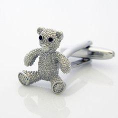 TEDDY BEAR CUFFLINKS n00675 on Etsy, $48.00