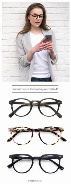 Did you know that we spend around 8 hours on average in front of our devices every day? All of that screen time can start to add up! Come check out our Digital Screen Protection Glasses. They're designed to help reduce the potentially harmful effects of d Glasses Frames, Look At You, Looks Cool, Swagg, Capsule Wardrobe, Just In Case, Eyewear, Piercings, Style Me