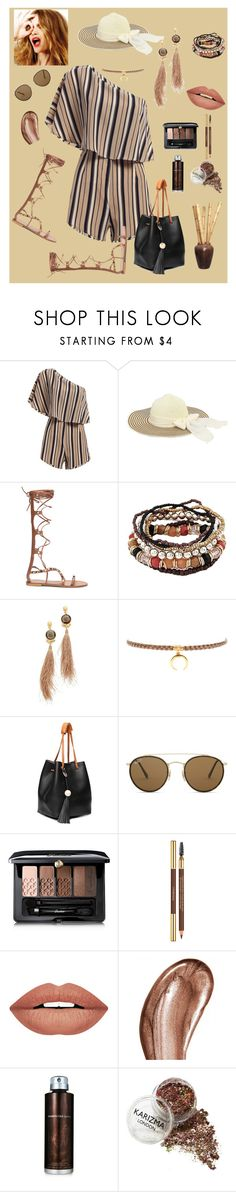 Black, Brown, & Tan by marlaj-50 on Polyvore featuring Gas Bijoux, Chan Luu, Ray-Ban, Guerlain, Laura Mercier, Forever 21, Kenneth Cole and Celestine