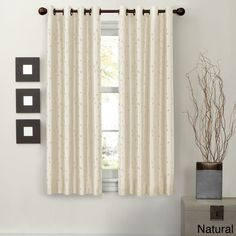 Maytex Jardin Embroidery Thermal Lined Energy Window Panel