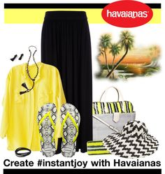 """""""Create #instantjoy with Havaianas and win!"""" by cozycraze ❤ liked on Polyvore"""