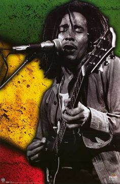 A great poster of Reggae legend Bob Marley on the mic with the Rasta tri-colors behind him. Jammin'! Fully licensed. Ships fast. 22x34 inches. Check out the rest of our Natty selection of Bob Marley p