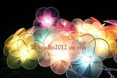 Flower night light lighting, Party light & wedding light, String light patio for home decor garden decor, Fairy lights hanging light FL10