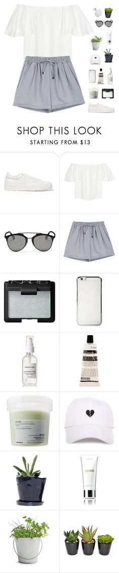 """""""off the shoulder"""" by f-resh ❤ liked on Polyvore featuring Jil Sander, Valentino, Christian Dior, NARS Cosmetics, Aesop, Davines, Dot & Bo, La Mer, Potting Shed Creations and The French Bee"""