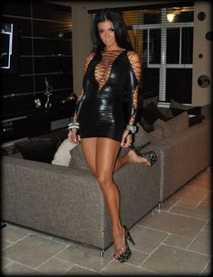 Beautiful black leather dress :)