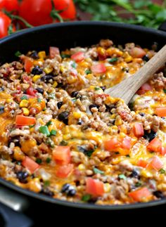One Pot Burrito Bowls - Happy-Go-Lucky - - Do you love one pot meals as much I do? Then, you have to make this recipe for One Pot Burrito Bowls. It's a 30 minute meal made in one pot. Mexican Food Recipes, Vegetarian Recipes, Dinner Recipes, Healthy Recipes, Healthy Mexican Rice, Mexican Bowl Recipe, Mexican Desserts, Healthy Meals For One, Drink Recipes