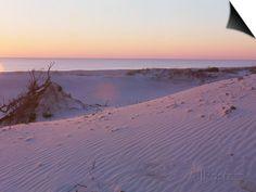 Sunset on Beach at Amelia Island, FL Magnetic Art kunstdruk
