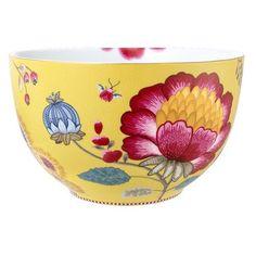 Trouver un saladier en porcelaine jaune pip studio edition limitée