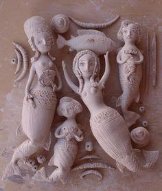 Elya Yalonetski, ceramics mermaids