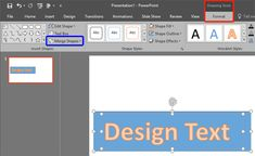 Convert Text to Shapes by Fragmenting in #PowerPoint 2016 for Windows