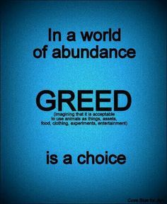 wildlife and greed