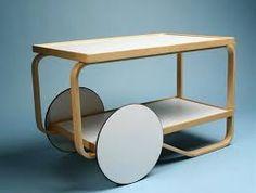 Tea trolley, designed by Alvar Aalto for Artek Alvar Aalto, Tea Trolley, Tea Cart, Food Trolley, Trolley Table, Danish Furniture, Modern Furniture, Furniture Design, Nordic Design