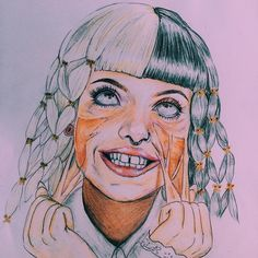 Melanie Martinez fan art by  @milky.moonlight from Instagram
